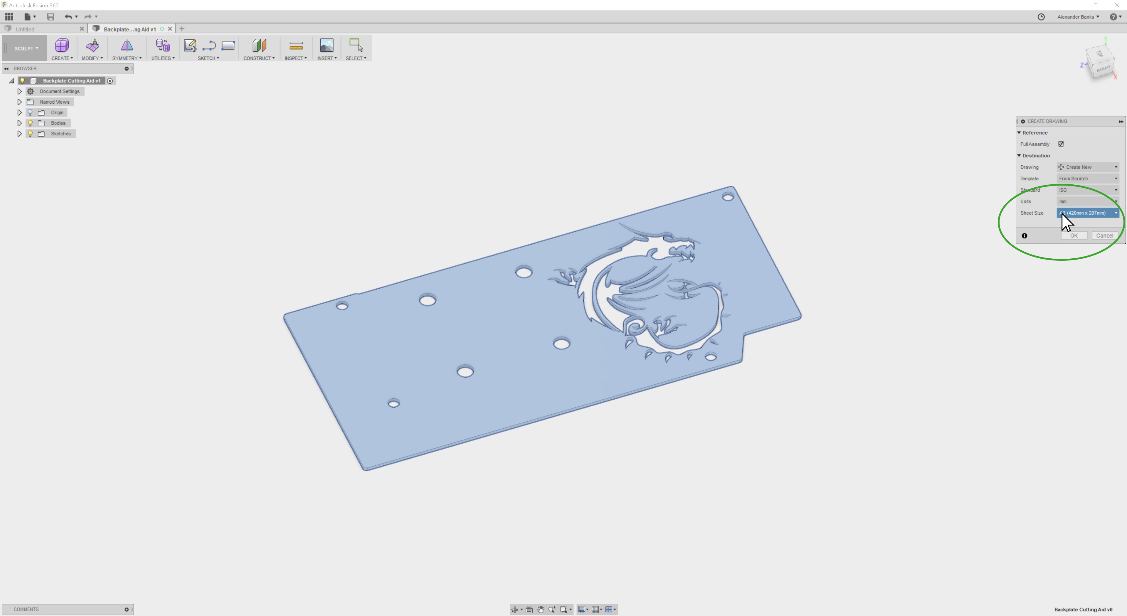 how to make cutting templates
