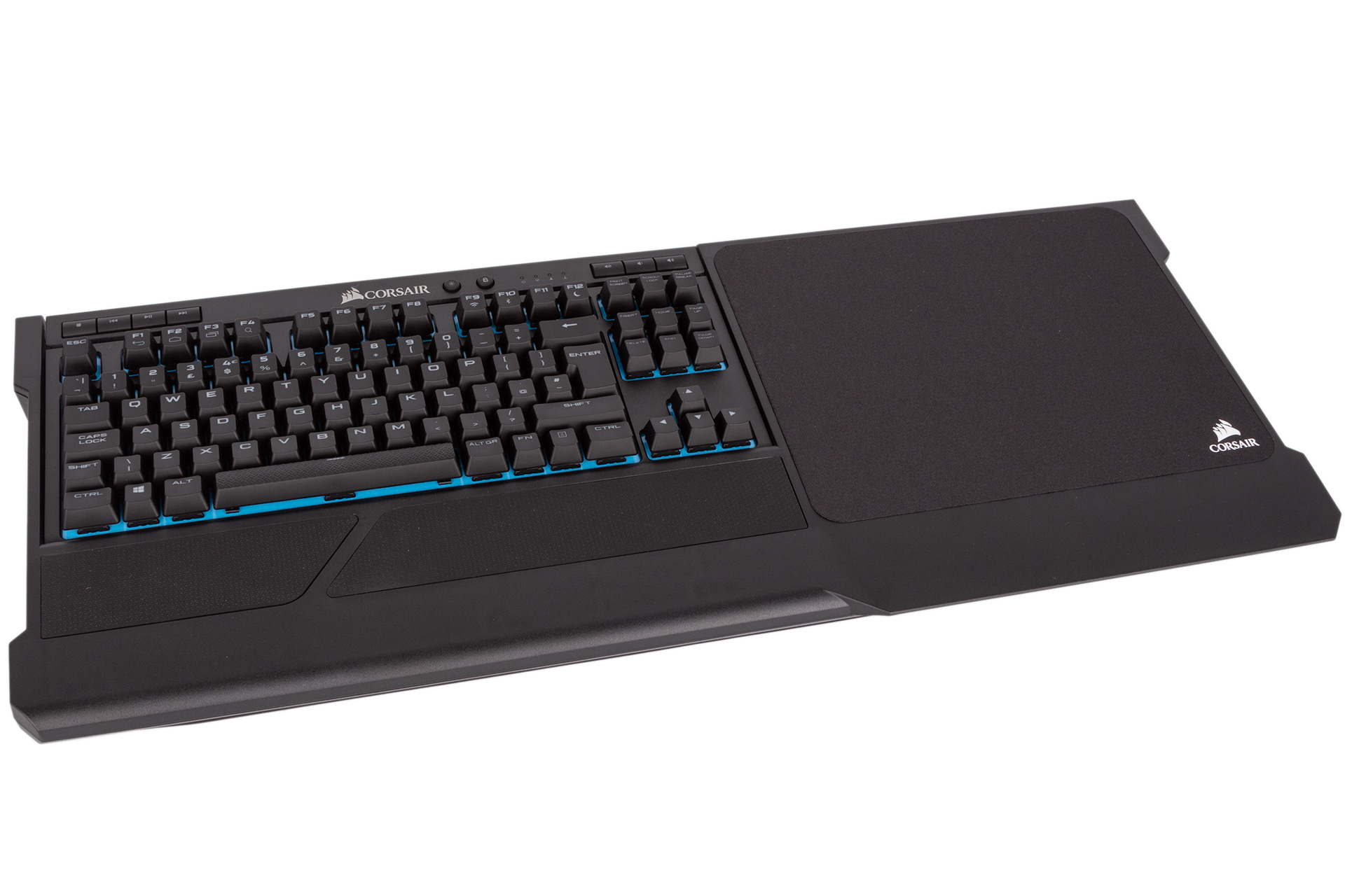 5ee508ba455 The K63 Wireless slots rather conveniently into the K63 Wireless Lapboard,  which has a built-in wrist rest of its own and hooks at the back to keep  the ...