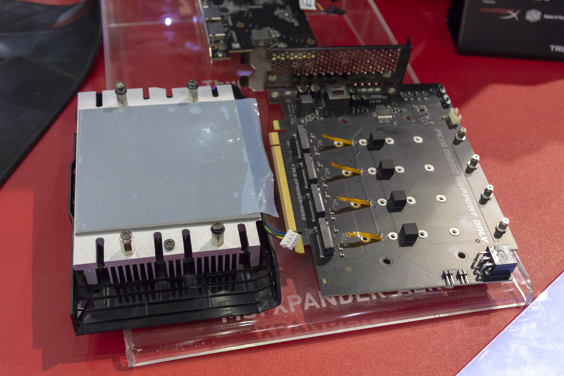 MSI Shows Off X399 And B450 Boards, M.2 Expansion Card