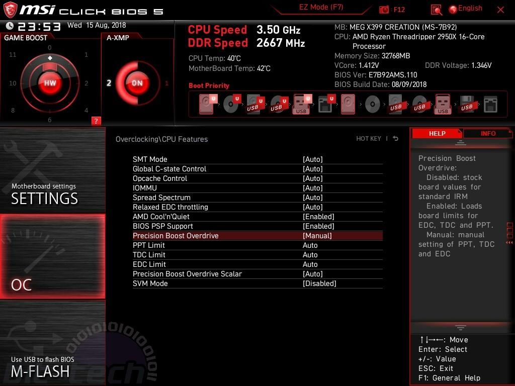 MSI MEG X399 Creation Review | bit-tech net
