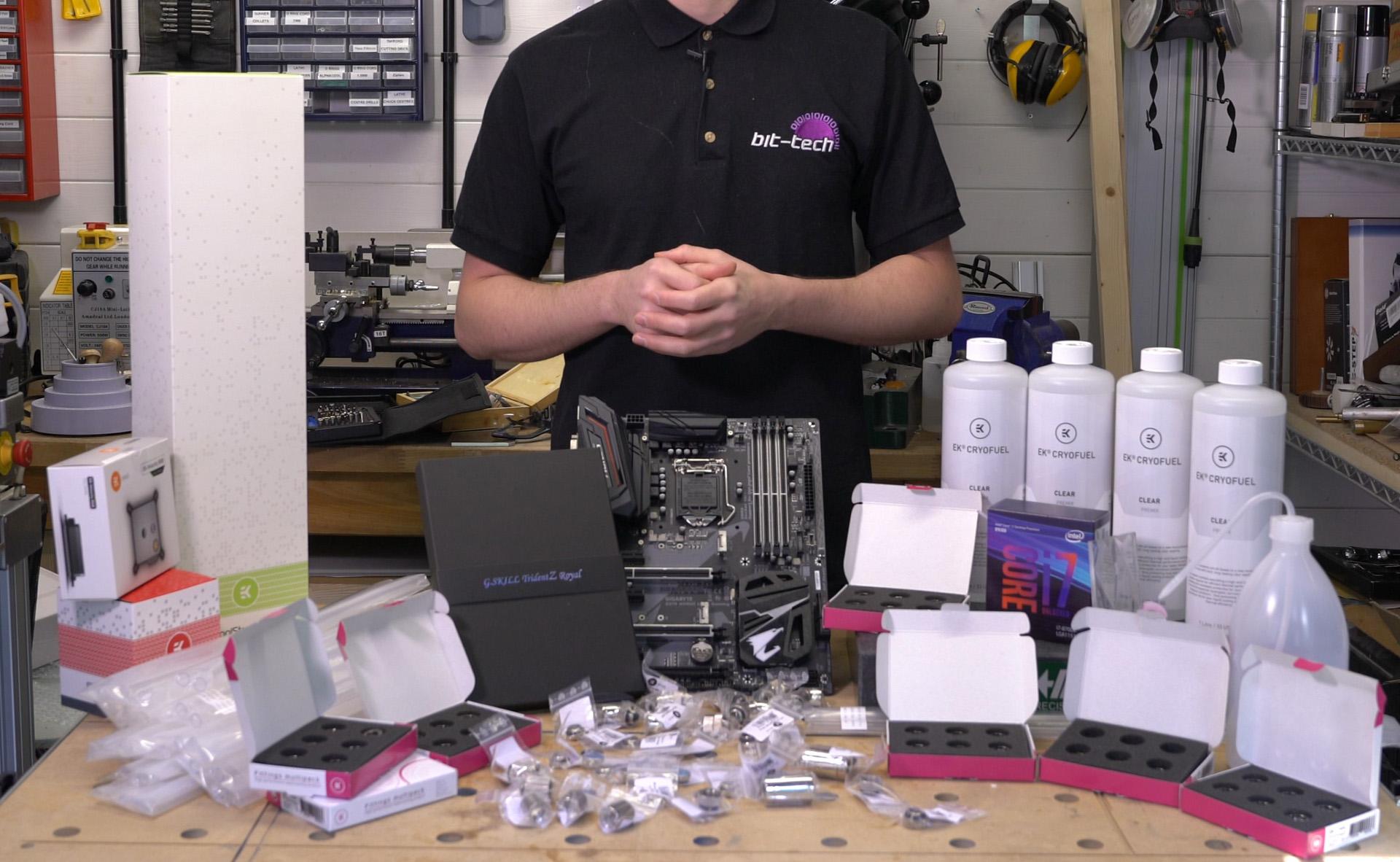 G Skill Trident Z Royal RGB Scratchbuild for Computex 2019