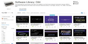 Internet Archive launches in-browser C64 emulation