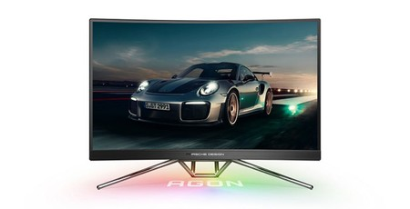 AOC teams up with Porsche for a fast sleek gaming monitor