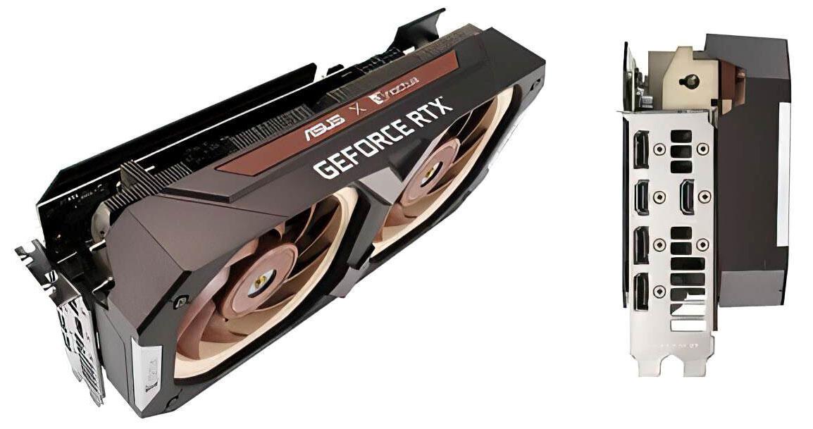 Partage du rendu officiel de la GeForce RTX 3070 d'Asus x Noctua