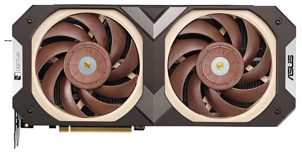 Mise en commun du rendu officiel de la GeForce RTX 3070 d'Asus x Noctua