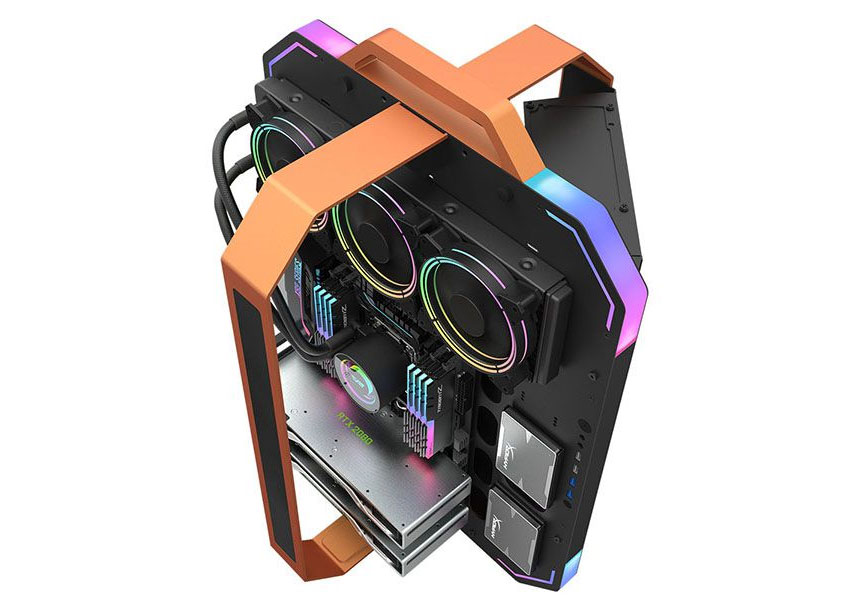 darkFlash Blade-X open frame luxury gaming case launched | bit-tech.net