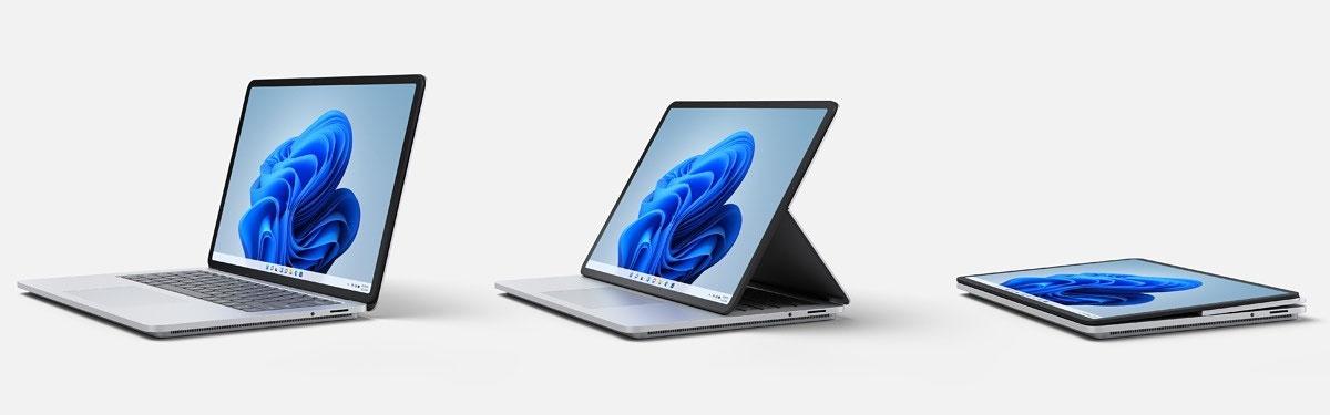 Microsoft présente 8 modèles de Surface et leurs accessoires.